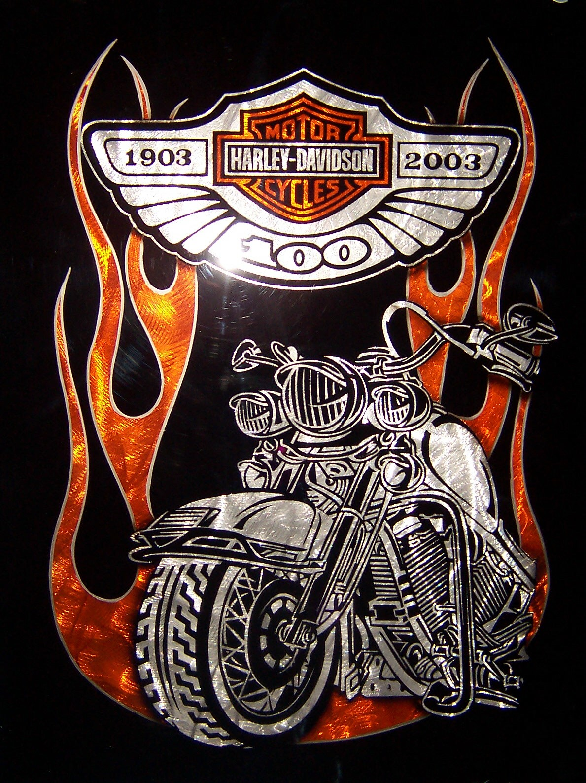 Displaying 14&gt Images For  Harley Davidson Logo With Flames Tattoo